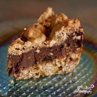 Овсяный десерт с шоколадом и орехами - фото шаг 4