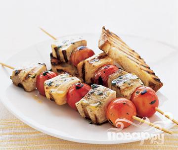Рецепт Шашлык из рыбы с помидорами черри