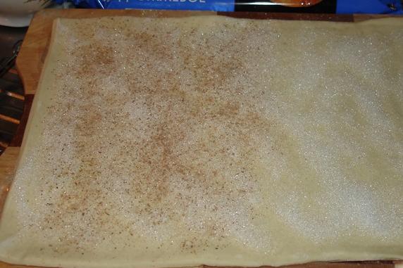 Рецепт Печенье из слоеного бездрожжевого теста