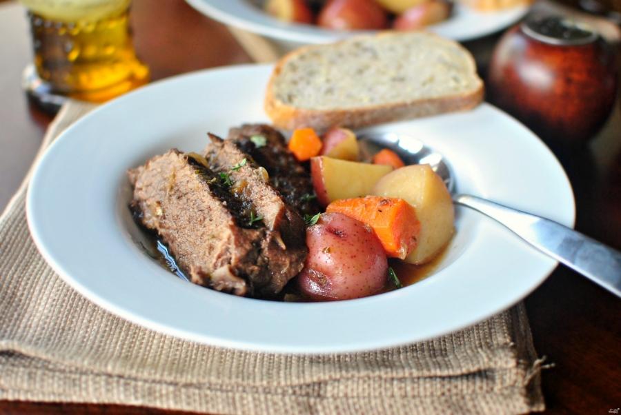 Картошка с мясом в горшочках. Пошаговый рецепт с фото