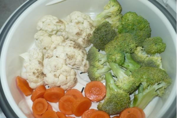 Рецепт Брокколи и цветная капуста в мультиварке
