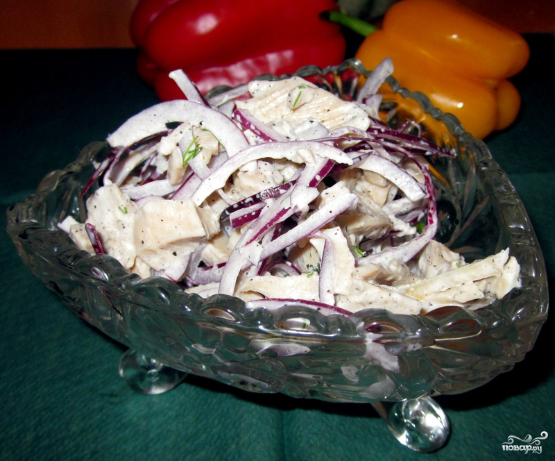 Салат из маринованных кальмаров рецепт с фото очень вкусный