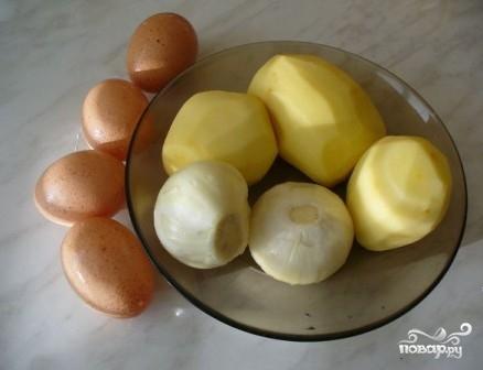 Картофельный омлет - фото шаг 1