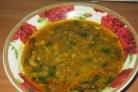Суп с зеленой чечевицей