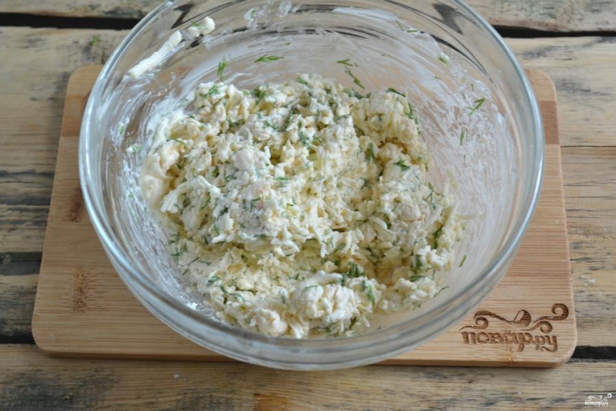 Рецепт лаваш с укропом и сыром