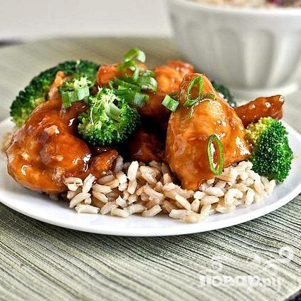 Курица по-азиатски с соусом и рисом - фото шаг 8
