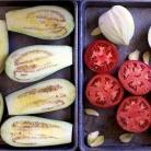 Рецепт Суп с запеченными баклажанами и помидорами