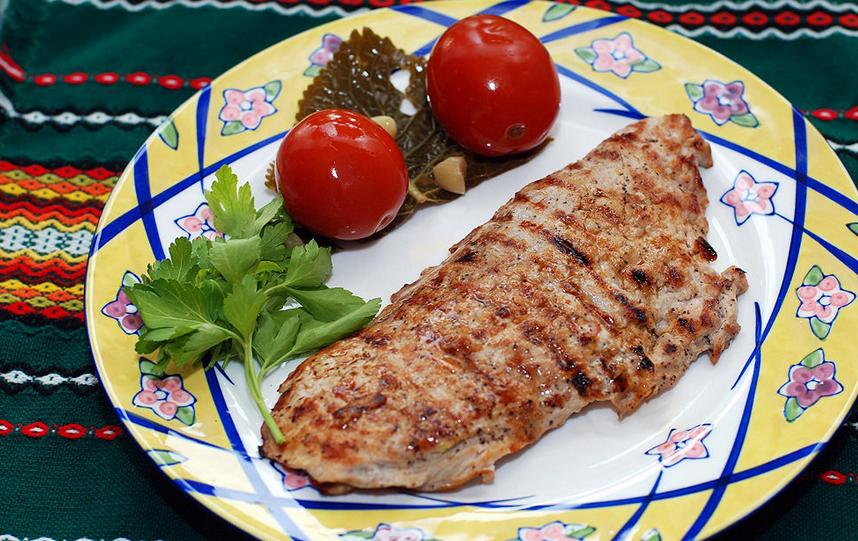 мясо по-французски с картошкой в сковороде рецепт с фото со свининой