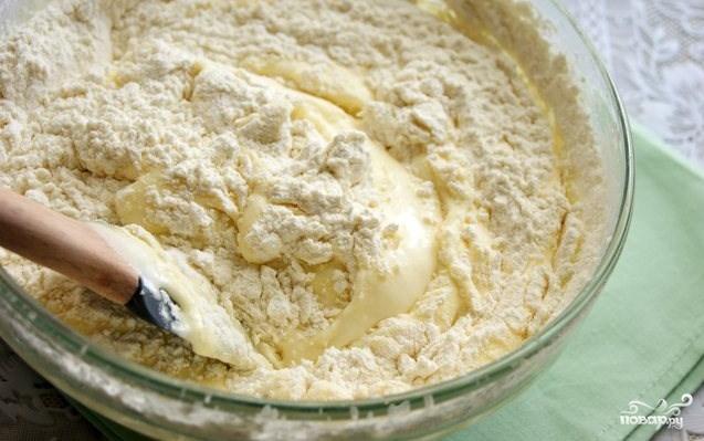 Творожный пирог с бисквитным тестом - фото шаг 3