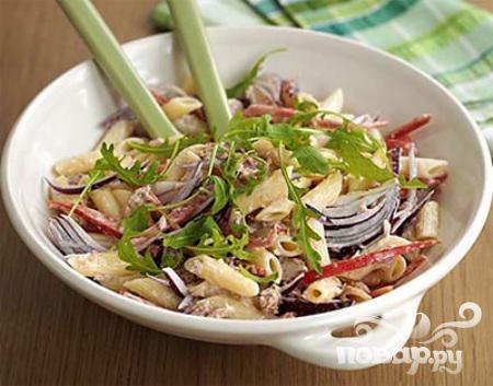 Рецепт Салат с пастой и тунцом