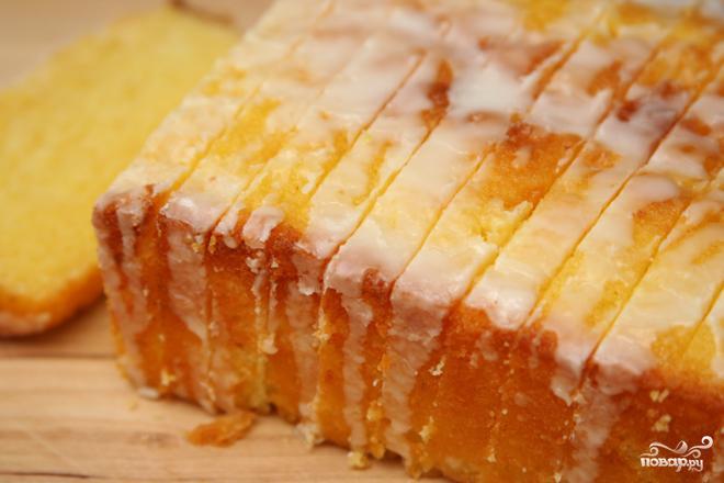 Лимонный кекс в глазури - фото шаг 3