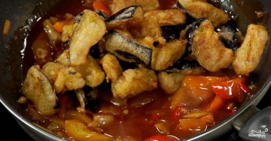 Баклажаны в кисло-сладком соусе по-китайски - фото шаг 4