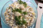 Салат с сыром и грибами