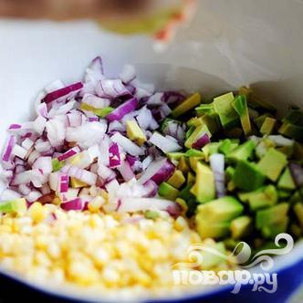 Сальса из свежей кукурузы и авокадо - фото шаг 5
