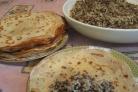 Блинчики с печенью и рисом