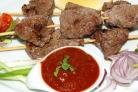 Шашлык на сковороде из говядины