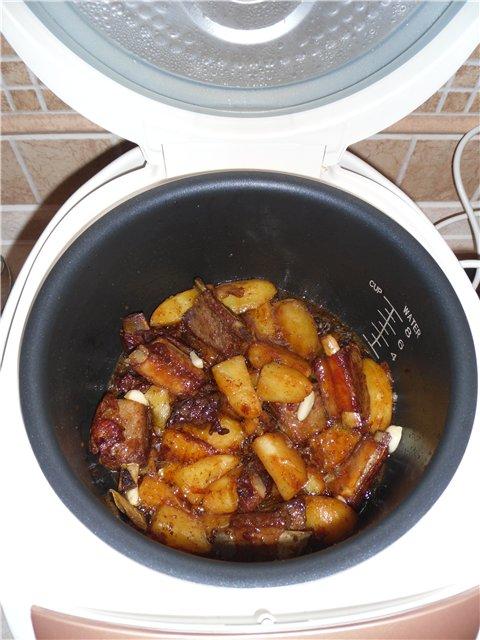 Картофель вкусный с ребрышками в мультиварке - фото шаг 5