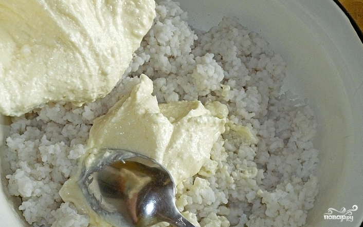 Творожно-рисовая запеканка с абрикосами - фото шаг 4