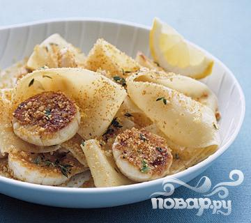 Рецепт Паста с морскими гребешками