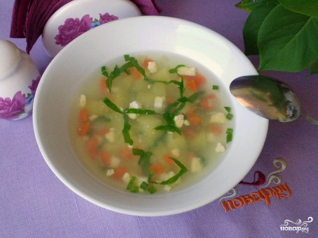 Легкий суп без мяса