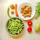 Рецепт Рагу из молодых летних овощей с картофелем отварным