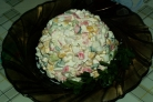 Салат из кукурузы и крабовых палочек