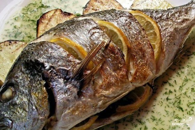 Рецепт Дорадо в пикантном соусе