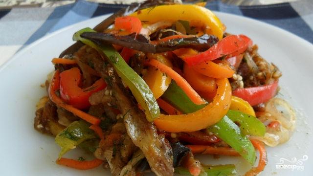 Рецепт Баклажаны по-корейски жареные