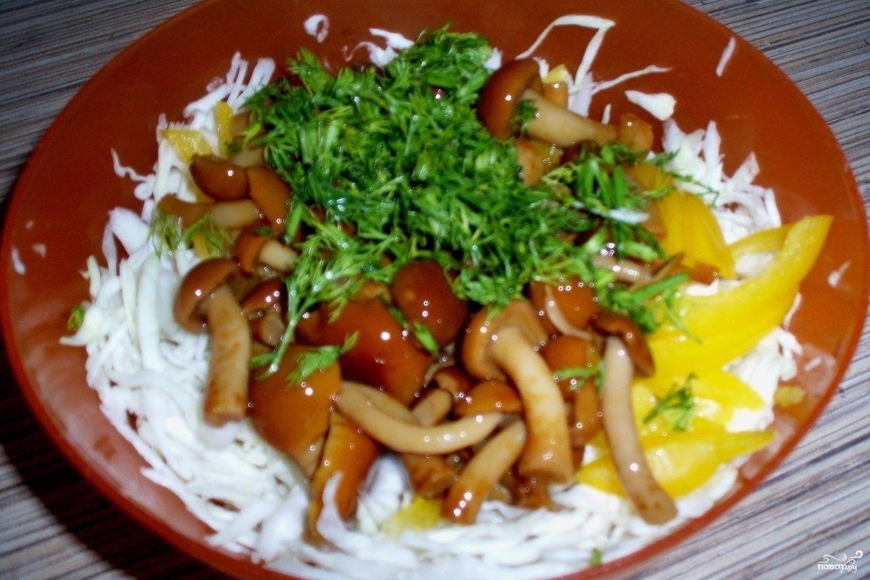 корейский салат с опятами рецепт