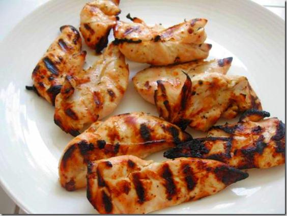 Рецепт Курица с рисовой лапшой и овощами