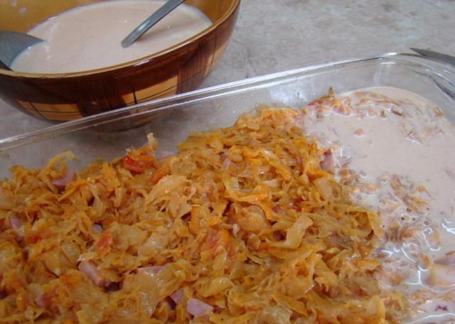 Запеканка с сыром и ветчиной - фото шаг 9