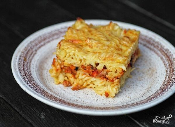 Рецепт Макаронная запеканка с сосиской