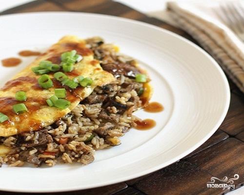 Омлет с рисом по-корейски