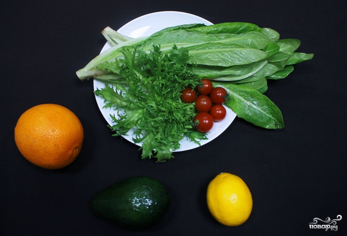 Рецепт Салат с авокадо и апельсинами