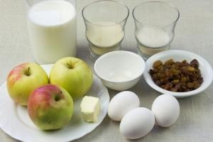 Рецепт Суфле из яблок с манной крупой