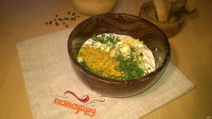 Кабачки в духовке под сметанным соусом - фото шаг 2