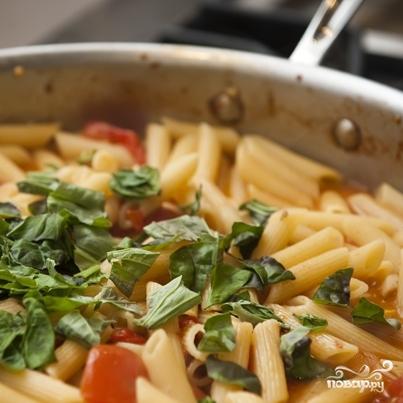 Паста с беконом и помидорами  - фото шаг 10