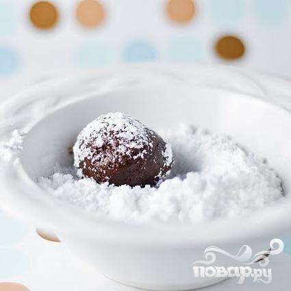 Шоколадное печенье с кофейной начинкой - фото шаг 3