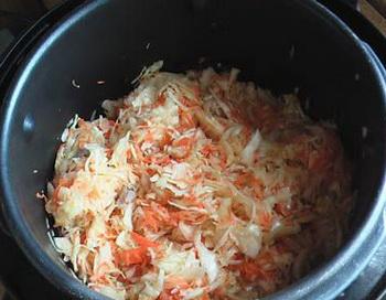 тушёная капуста с мясом в мультиварке редмонд пошаговый рецепт