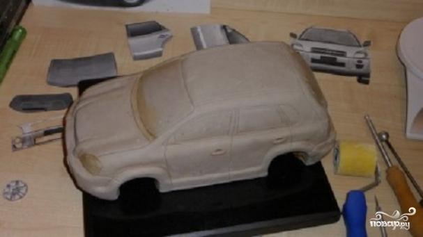 Машина трафарет для торта своими руками 52