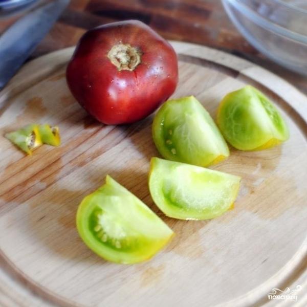 Особый салат из разноцветных помидоров - фото шаг 3