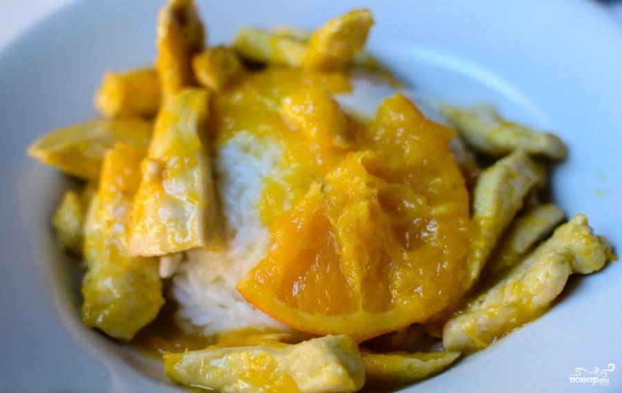 Куриное филе в апельсиновом соусе - фото шаг 6