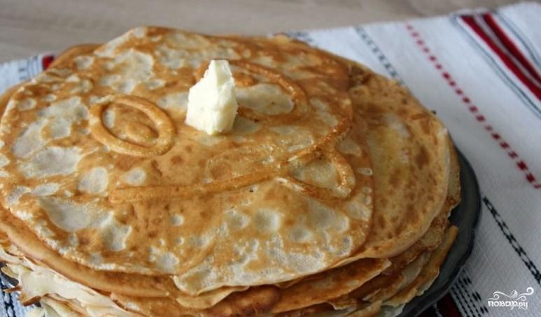 Рецепт тонких блинов на кислом молоке пошаговый рецепт