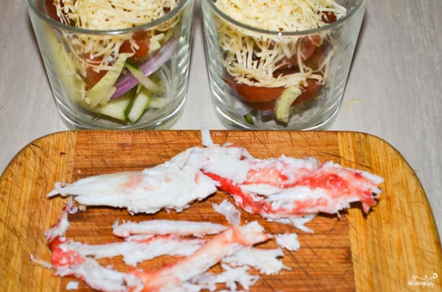 Салат из натурального крабового мяса - фото шаг 6