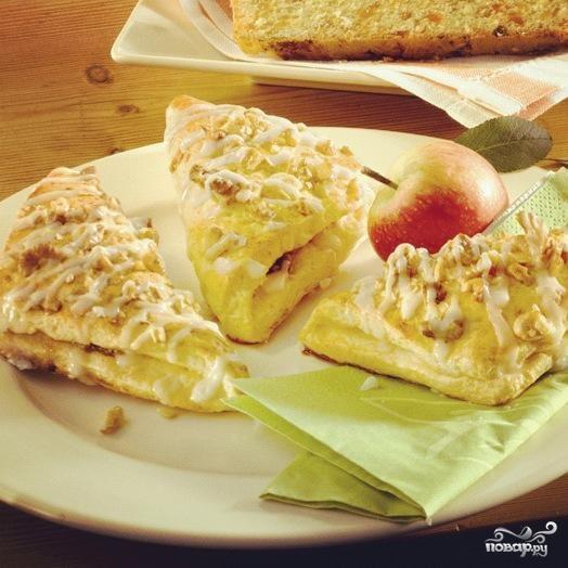 Конвертики с яблоками и грецкими орехами
