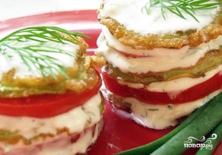 Кабачки в кляре с помидорами - фото шаг 9