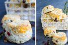 Сырное печенье с клюквой и розмарином