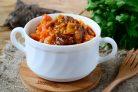 Говяжье рагу в томатно-сливочном соусе