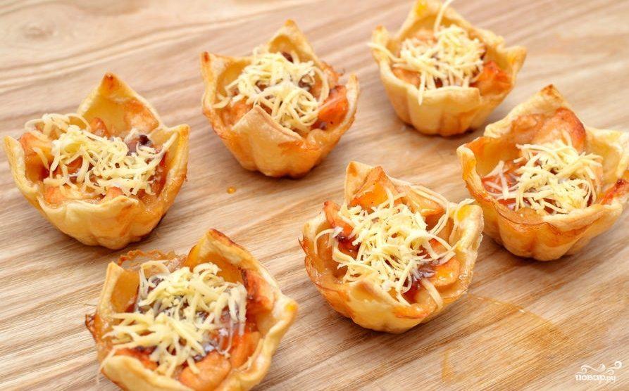 Рецепт Тарталетки с рыбой и сыром