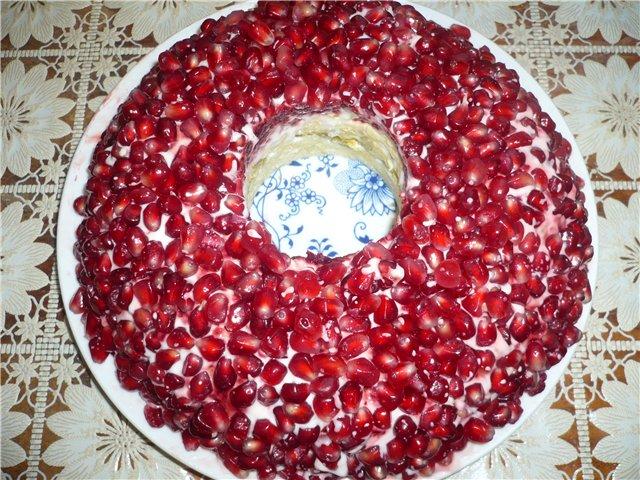 гранатовый браслет салат рецепт с курицей пошаговый рецепт
